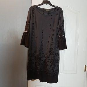 REBORN BLACK & GRAY BOHO DRESS